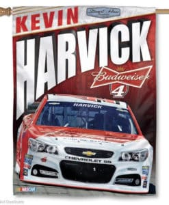 """Kevin Maverick Nascar 27"""" x 37"""" Red Vertical Flag"""