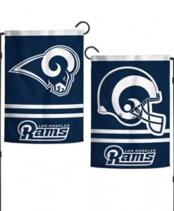 "Los Angeles Rams 12.5""x18"" 2 Sided Garden Flag"