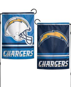 "Los Angeles Chargers 12.5""x18"" 2 Sided Garden Flag"