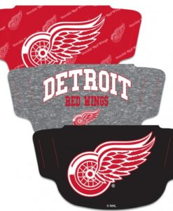 Detroit Red Wings Mask Face Cover 3 Pack