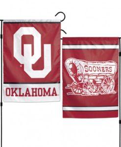 """Oklahoma Sooners 12.5""""x18"""" 2 Sided Garden Flag"""