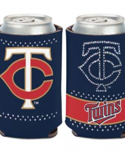 Minnesota Twins 12 oz Bling Navy Can Koozie Holder