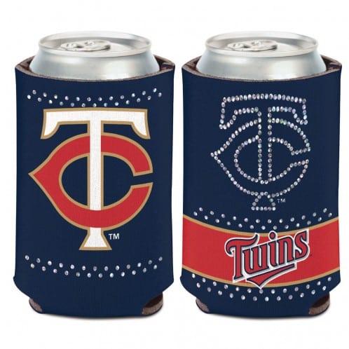 Minnesota Twins 12 oz Bling Navy Can Koozie Holder
