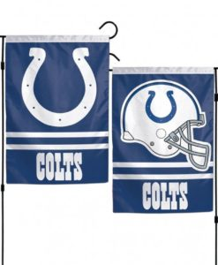 """Indianapolis Colts 12.5""""x18"""" 2 Sided Garden Flag"""