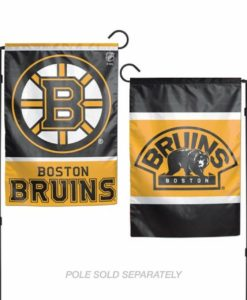 Boston Bruins Flag 12x18 Garden Style 2 Sided