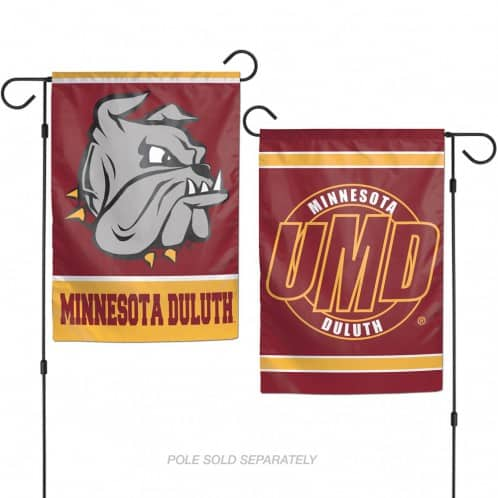 "Minnesota Duluth Bulldogs 12.5""x18"" 2 Sided Garden Flag"