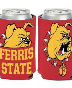 Ferris State Bulldogs 12 oz Crimson Gold Can Koozie Holder