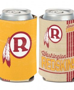 Washington Redskins 12 oz White Gold Vintage Can Koozie Holder