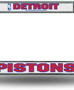 Detroit Pistons Chrome License Plate Frame