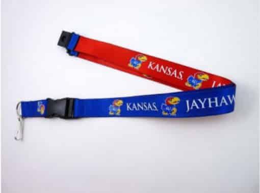 Kansas Jayhawks Reversible Lanyard