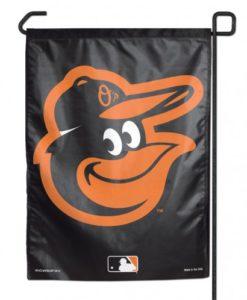 """Baltimore Orioles Black 11""""x15"""" Garden Flag"""