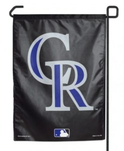 """Colorado Rockies 11""""x15"""" Garden Flag"""