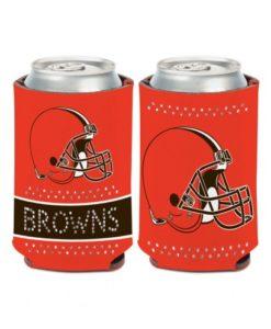 Cleveland Browns 12 oz Bling Orange Can Koozie Holder