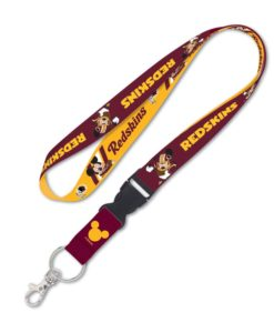 Washington Redskin Mickey Mouse Lanyard with Detachable Buckle