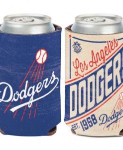Los Angeles Dodgers 12 oz Blue Cooperstown Can Cooler Holder
