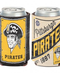 Pittsburg Pirates 12 oz Black Yellow Cooperstown Can Koozie Holder