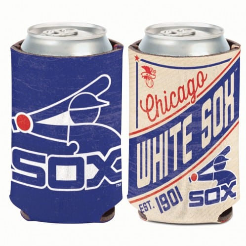 Chicago White Sox 12 oz Blue Red Cooperstown Can Koozie Holder