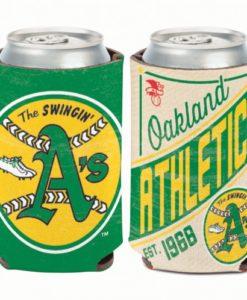 Oakland Athletics 12 oz Green Cooperstown Can Koozie Holder