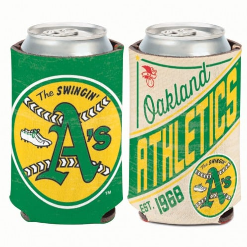 Oakland Athletics 12 oz Green Cooperstown Can Koozie Holder