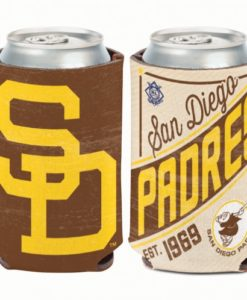 San Diego Padres 12 oz Brown Cooperstown Can Koozie Holder