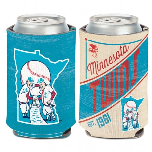 Minnesota Twins 12 oz Cooperstown Blue Red Can Koozie Holder