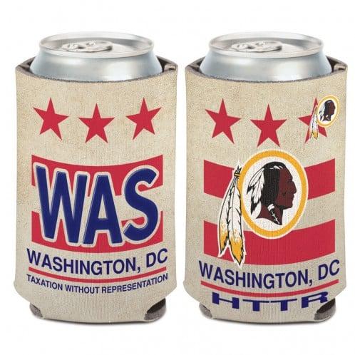 Washington Redskins 12 oz White State Plate Can Koozie Holder