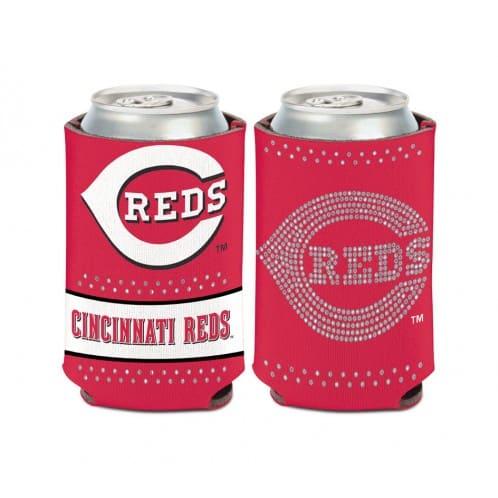 Cincinnati Reds 12 oz Bling Red Can Koozie Holder
