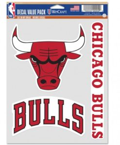 Chicago Bulls Decal Multi Use Fan 3 Pack