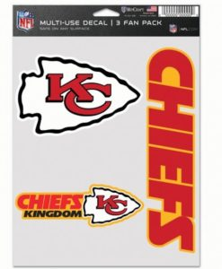 Kansas City Chiefs Decal Multi Use Fan 3 Pack