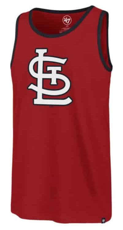 St. Louis Cardinals 47 Brand Men's Red Splitter Tank Top
