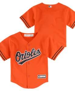 Baltimore Orioles Baby Orange Alternate Home Jersey