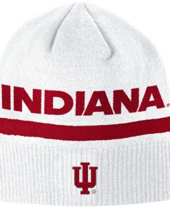 Indiana Hoosiers Adidas White Knit Beanie Hat