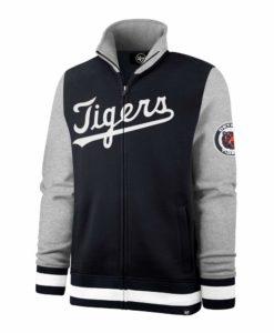 Detroit Tigers Men's 47 Brand Navy Classic Iconic Track Full Zip Jacket