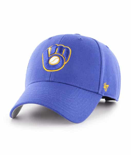 Milwaukee Brewers 47 Brand Blue MVP Adjustable Hat