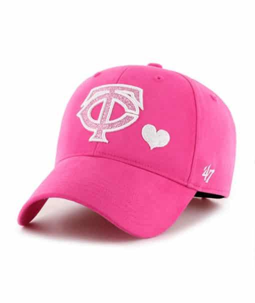 Minnesota Twins KIDS Girls 47 Brand Pink Sugar Sweet MVP Adjustable Hat