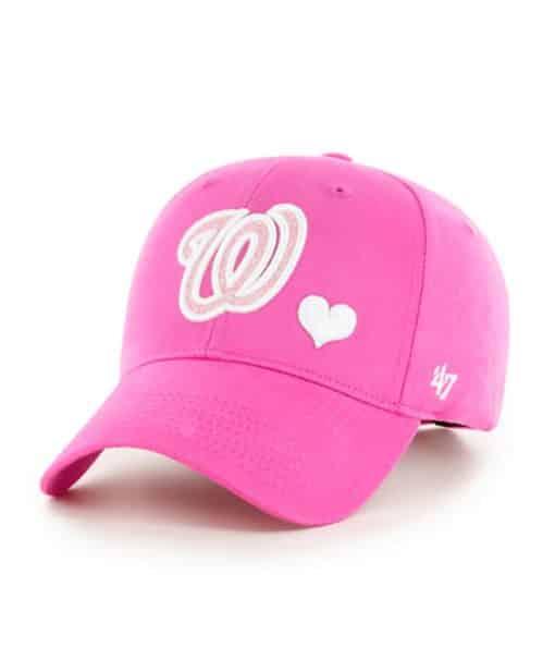Washington Nationals KIDS Girls 47 Brand Pink Sugar Sweet MVP Adjustable Hat
