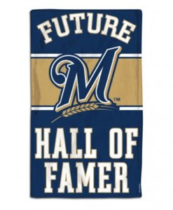 Milwaukee Brewers Future Hall of Famer Navy Baby Burp Cloth