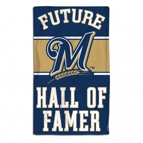 Milwaukee Brewers Future Hall of Famer Navy Baby Burp Cloth