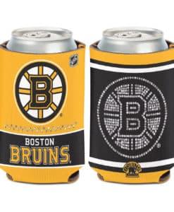 Boston Bruins 12 oz Bling Yellow Black Can Koozie Holder