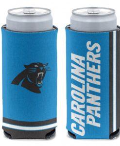 Carolina Panthers 12 oz Blue Slim Can Koozie Holder