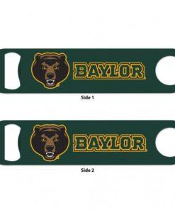 Baylor Bears Greeen Metal Bottle Opener 2-Sided