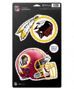 "Washington Redskins 5""x9"" Magnets Set of 2"