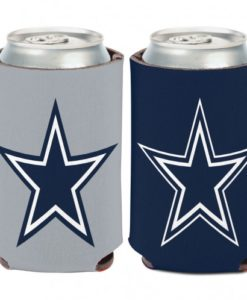 Dallas Cowboys 12 oz Navy Gray Can Koozie Holder