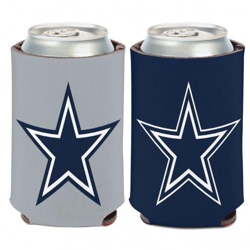 Dallas Cowboys 12 oz Navy Gray Can Koozie Holder