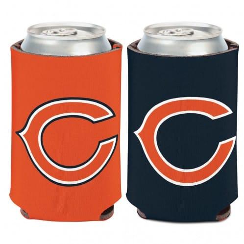 Chicago Bears 12 oz Logo Navy Orange Can Koozie Holder