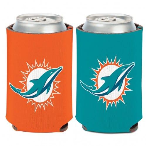 Miami Dolphins Logo 12 oz Orange Aqua Can Koozie Holder