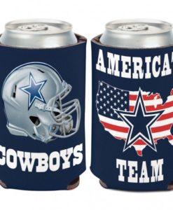 Dallas Cowboys Slogan 12 oz Navy Can Koozie Holder
