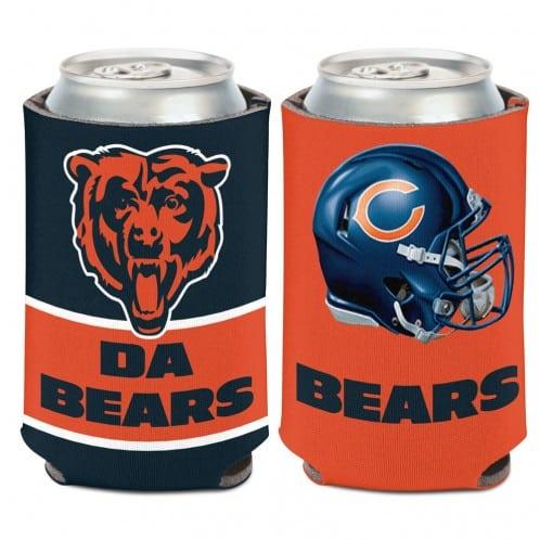Chicago Bears 12 oz Slogan Orange Navy Can Koozie Holder