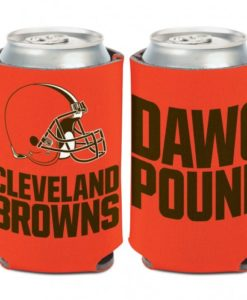 Cleveland Browns Slogan 12 oz Orange Can Koozie Holder