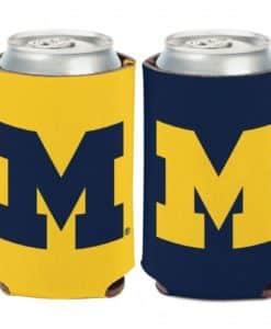 Michigan Wolverines 12 oz Logo Maize Blue Can Koozie Holder